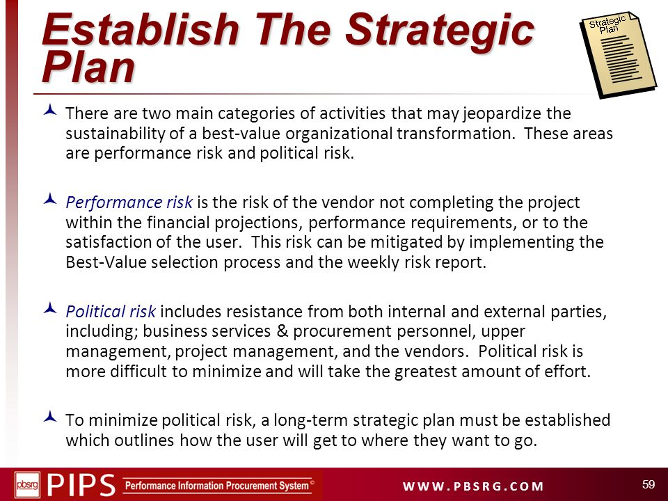 Establish The Strategic Plan
