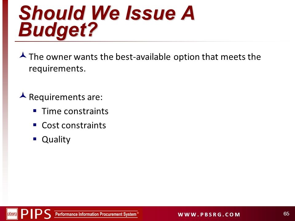 Should We Issue A Budget