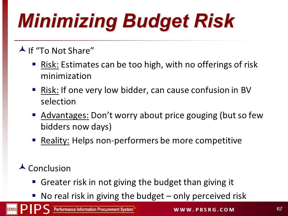 Minimizing Budget Risk