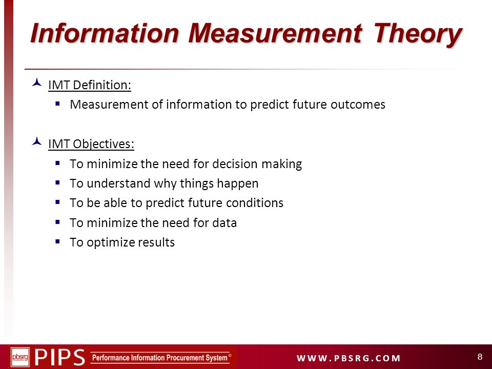 Information Measurement Theory