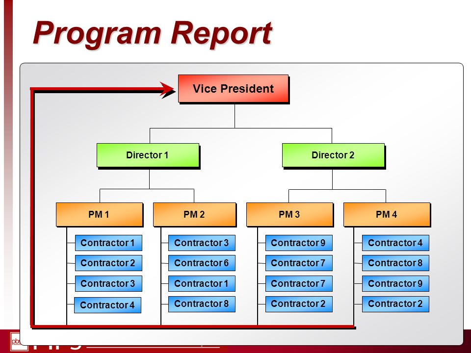 Program Report Vice President Director Director 1