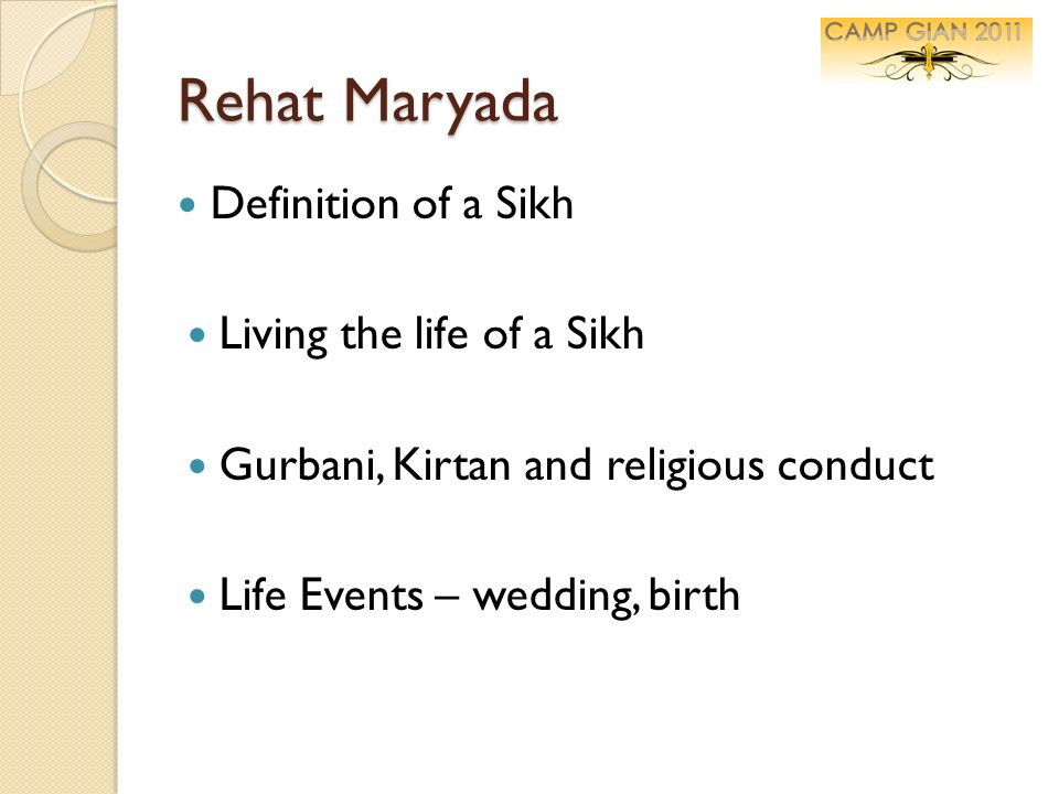Rehat Maryada Definition of a Sikh Living the life of a Sikh