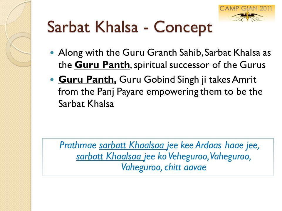 Sarbat Khalsa - Concept