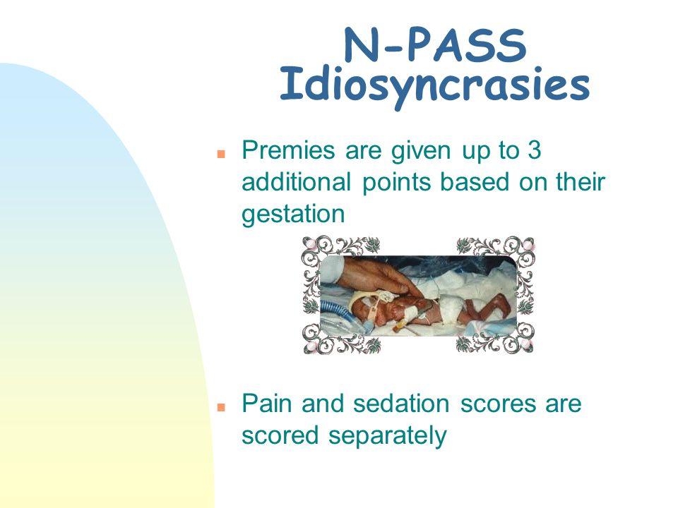 N-PASS Idiosyncrasies