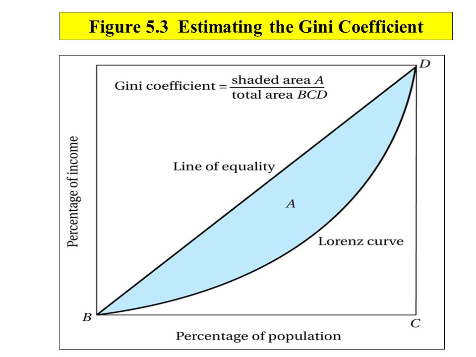 Figure 5.3 Estimating the Gini Coefficient