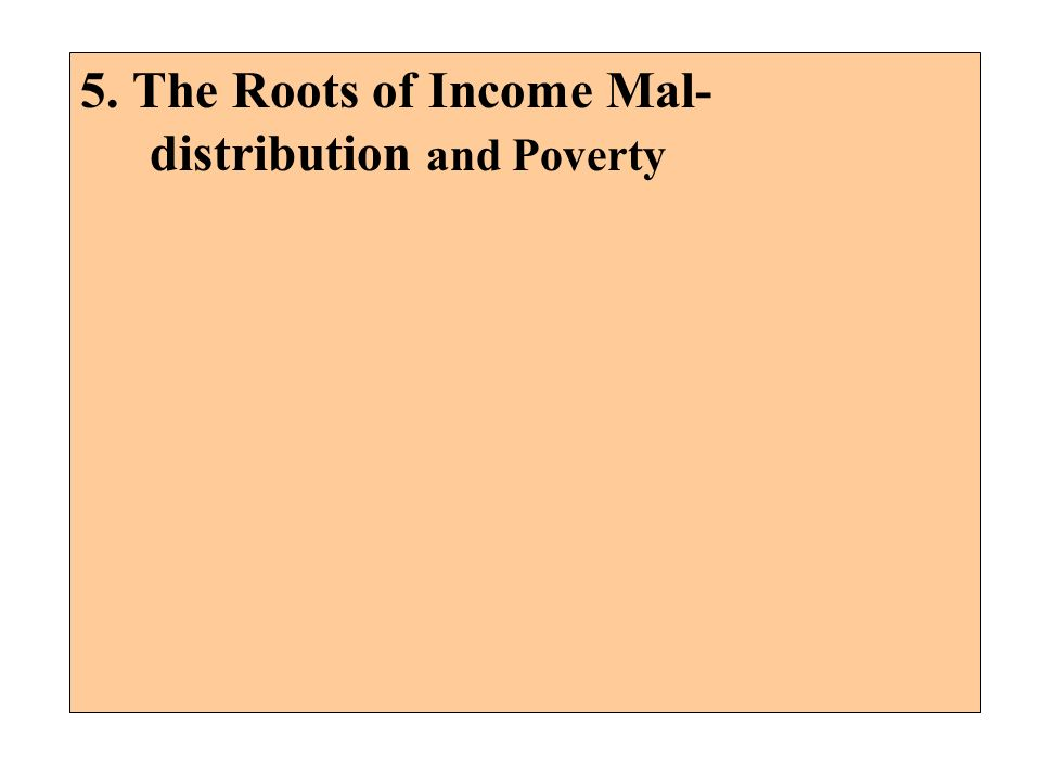5. The Roots of Income Mal-distribution and Poverty