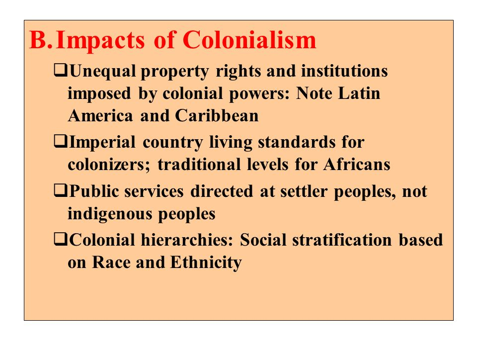 Impacts of Colonialism