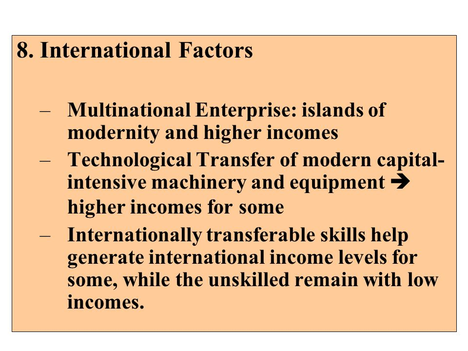 8. International Factors