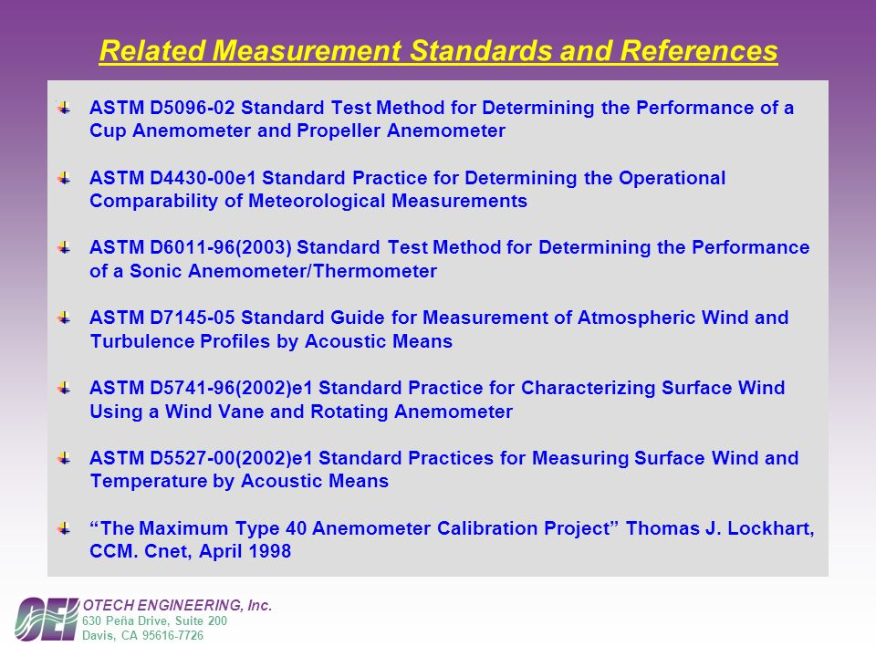 Related Measurement Standards and References