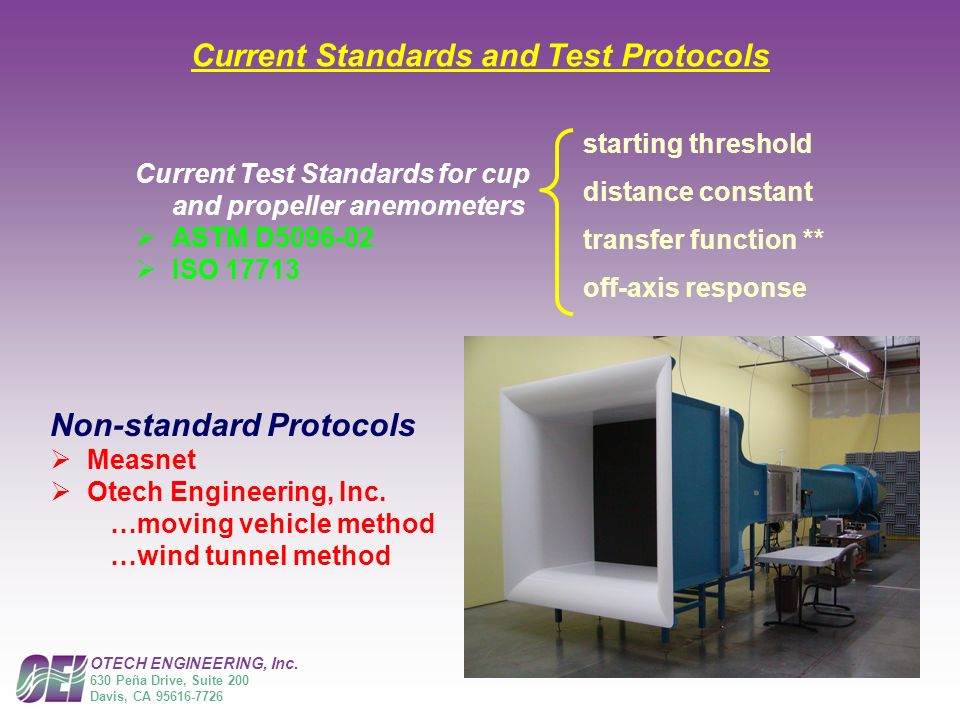 Current Standards and Test Protocols