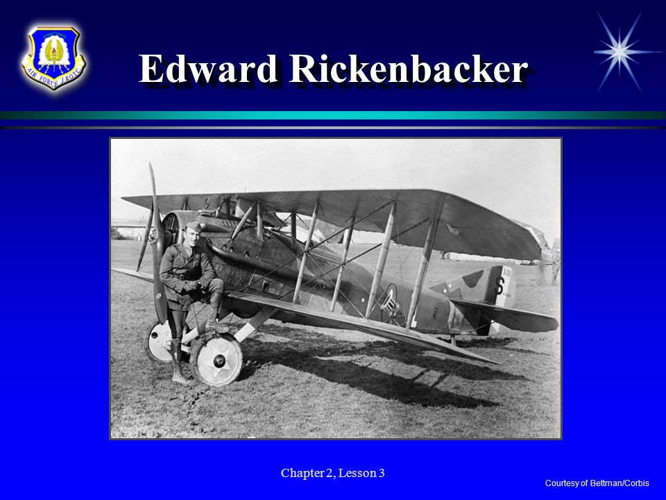 Edward Rickenbacker Chapter 2, Lesson 3 Courtesy of Bettman/Corbis
