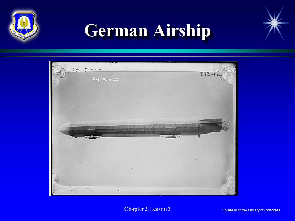 German Airship Chapter 2, Lesson 3 Courtesy of the Library of Congress