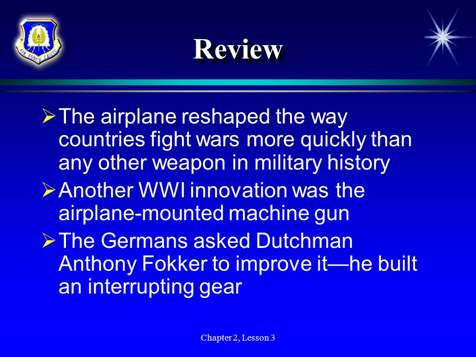 Review The airplane reshaped the way countries fight wars more quickly than any other weapon in military history.