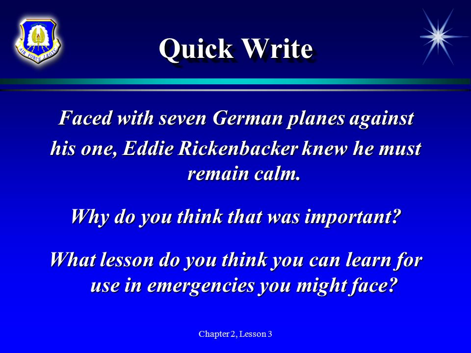 Quick Write Faced with seven German planes against