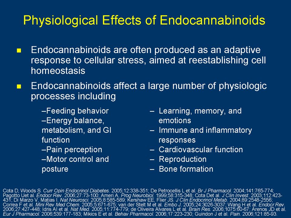 Physiological Effects of Endocannabinoids