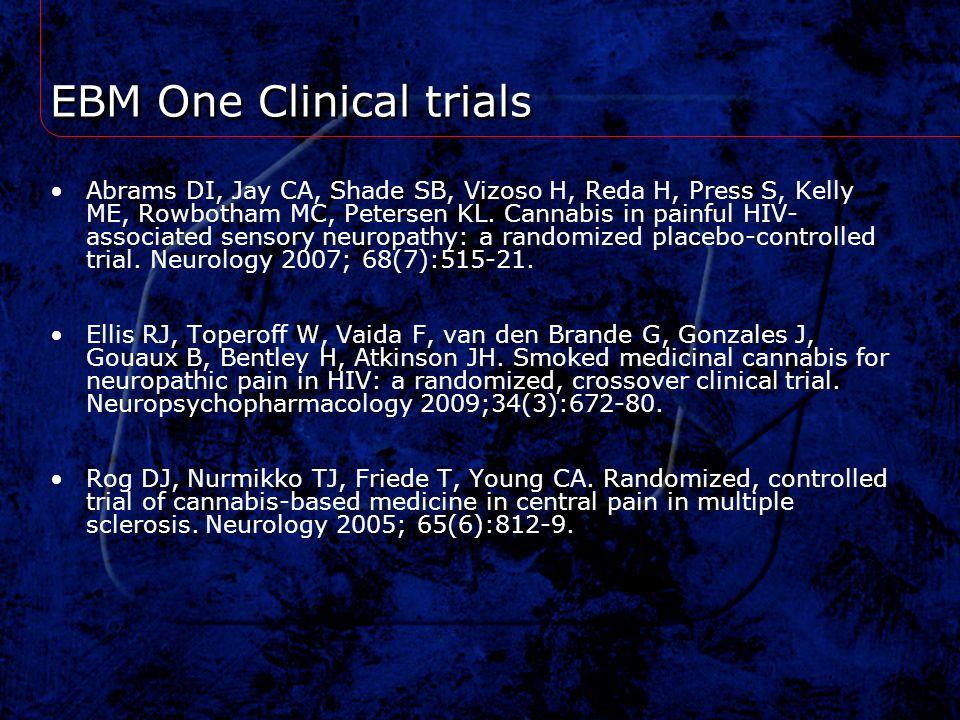 EBM One Clinical trials