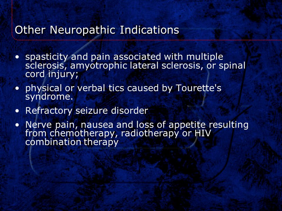 Other Neuropathic Indications