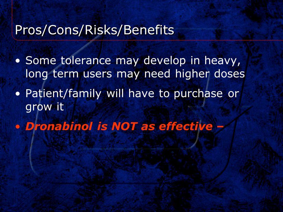 Pros/Cons/Risks/Benefits