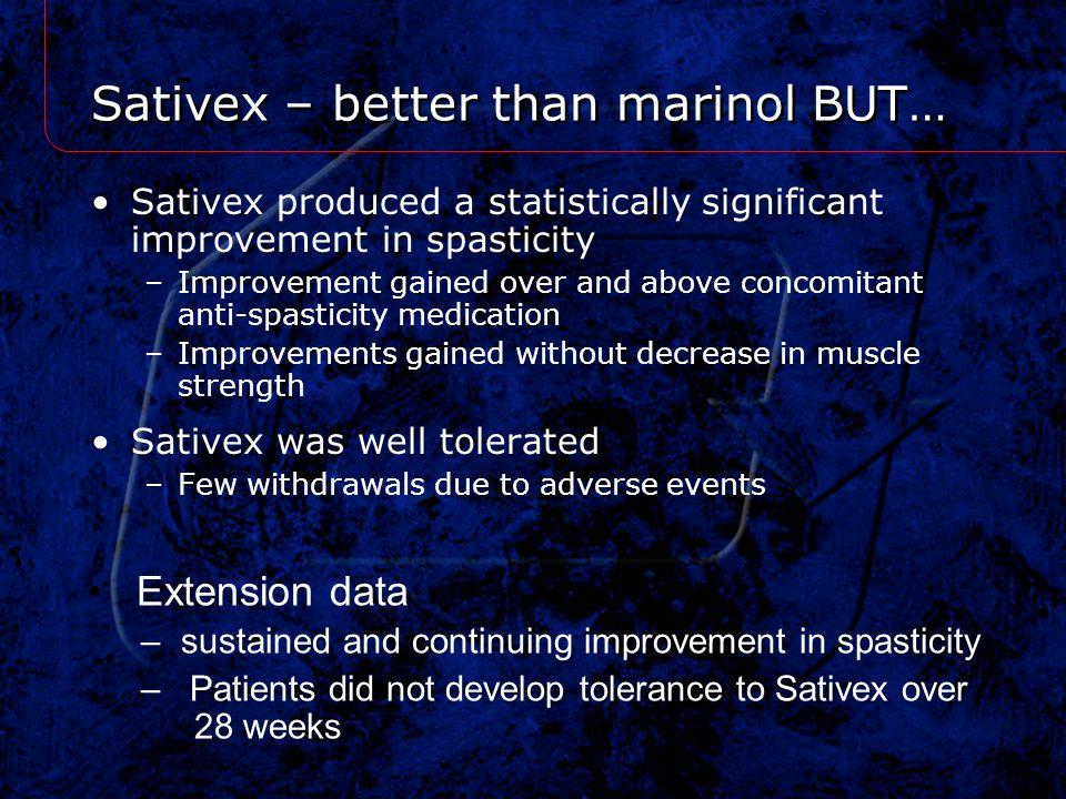 Sativex – better than marinol BUT…
