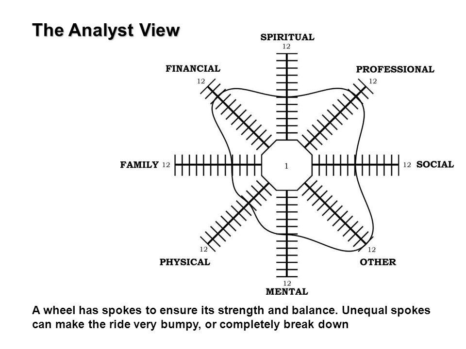 The Analyst View A wheel has spokes to ensure its strength and balance.