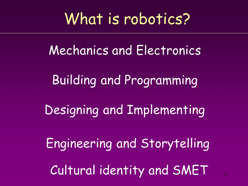 What is robotics Mechanics and Electronics Building and Programming