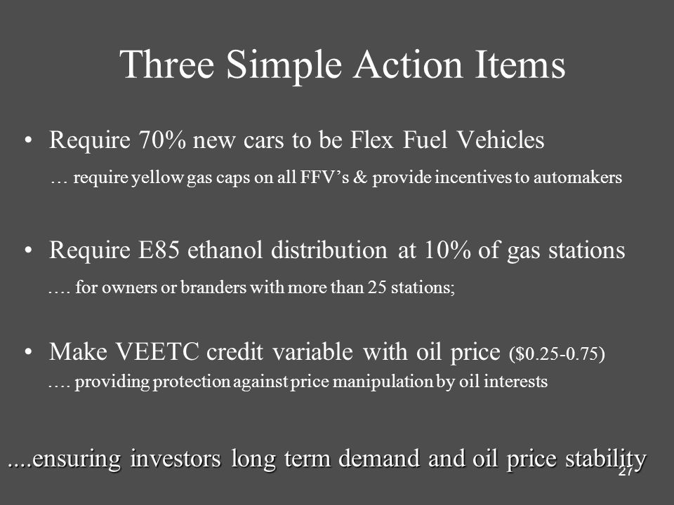 Three Simple Action Items