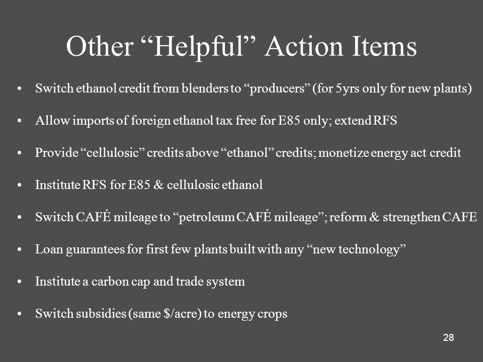 Other Helpful Action Items