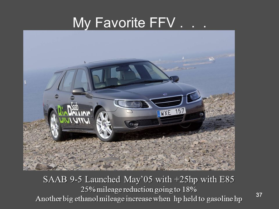 My Favorite FFV . . . SAAB 9-5 Launched May'05 with +25hp with E85