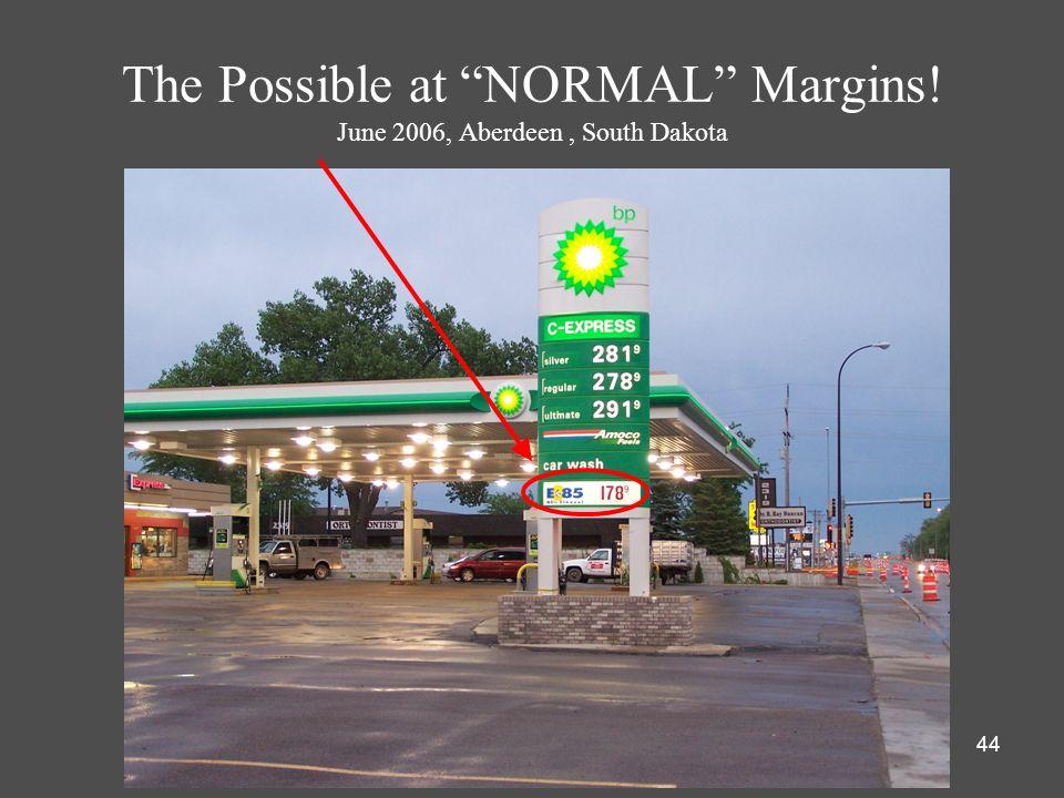 The Possible at NORMAL Margins! June 2006, Aberdeen , South Dakota