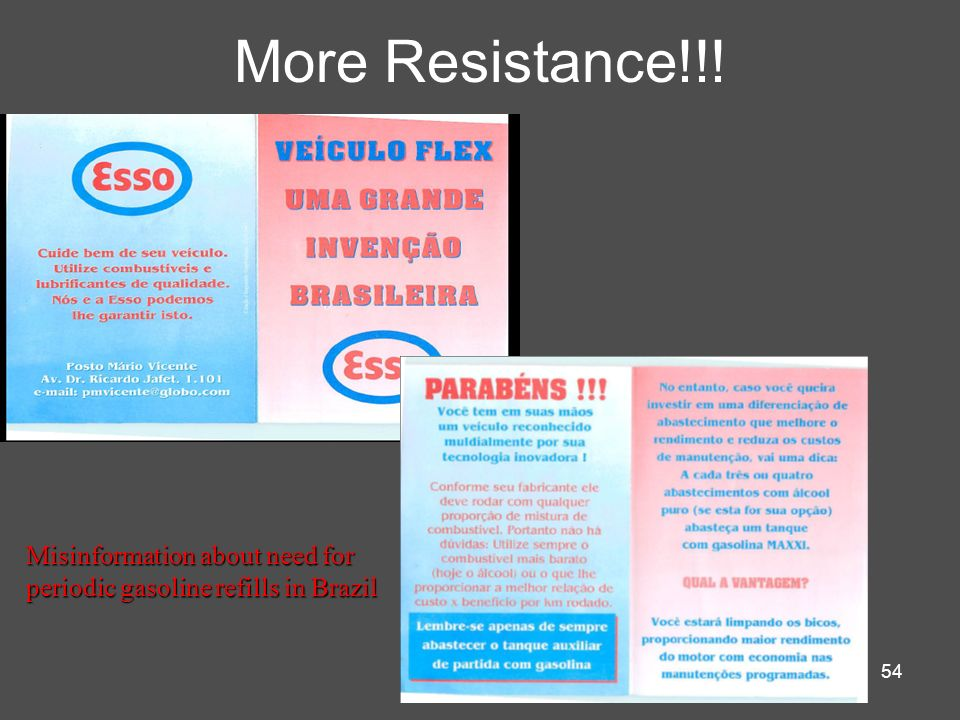 More Resistance!!! Misinformation about need for