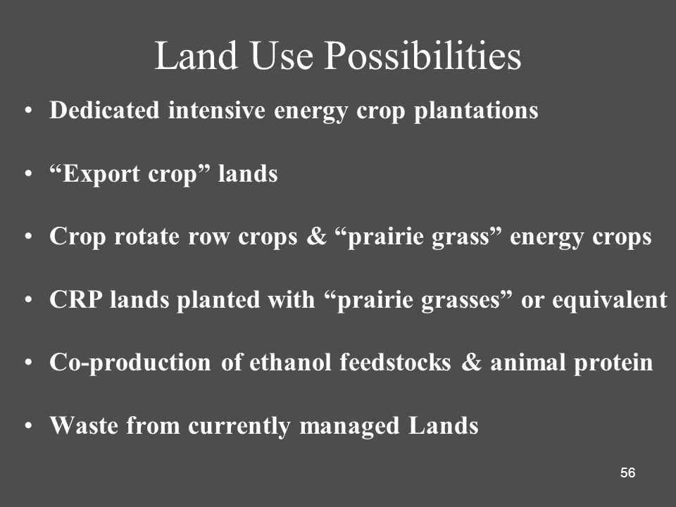 Land Use Possibilities
