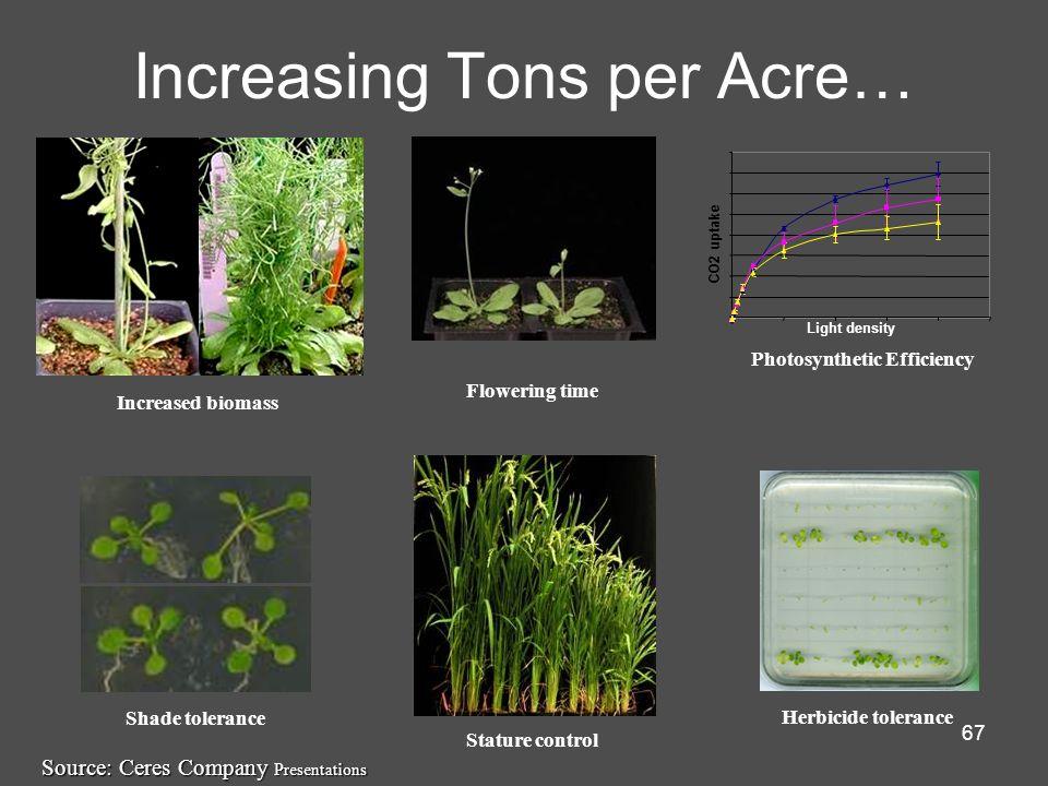 Increasing Tons per Acre…