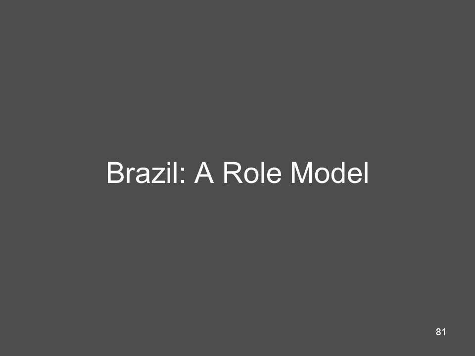 Brazil: A Role Model