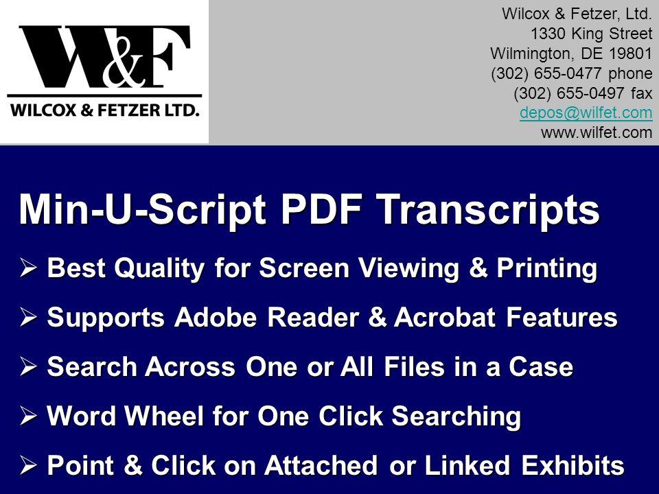 Min-U-Script PDF Transcripts