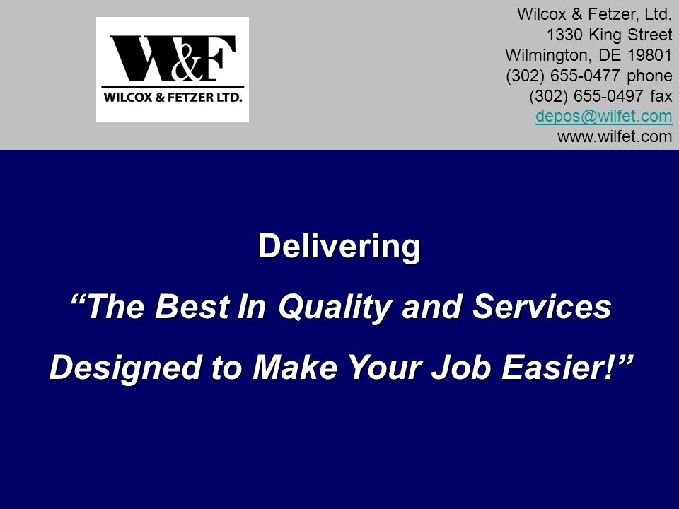 The Best In Quality and Services Designed to Make Your Job Easier!