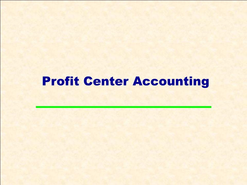 Profit Center Accounting