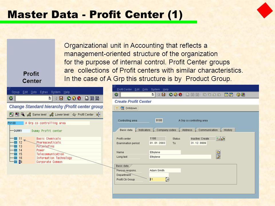 Master Data - Profit Center (1)