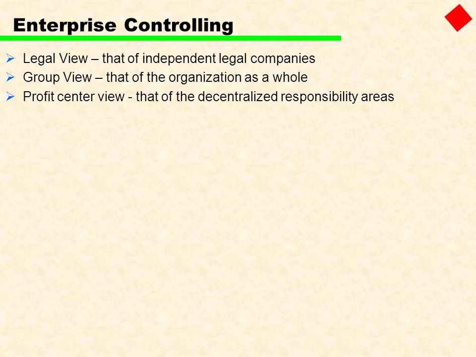 Enterprise Controlling