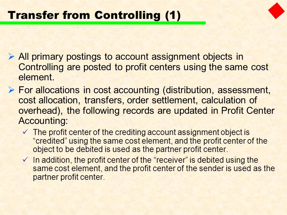 Transfer from Controlling (1)