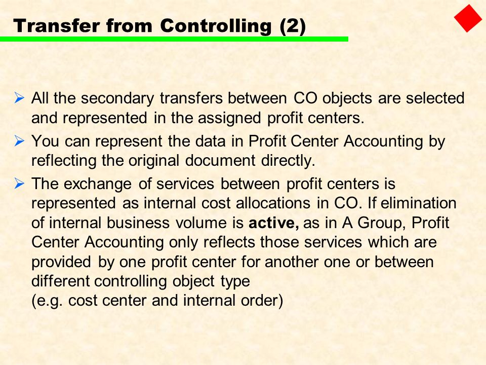 Transfer from Controlling (2)