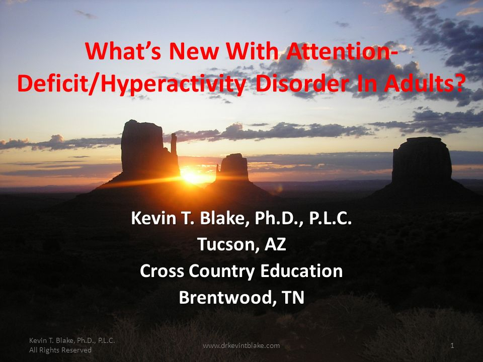What's New With Attention-Deficit/Hyperactivity Disorder In Adults