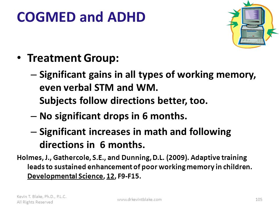 COGMED and ADHD Treatment Group: