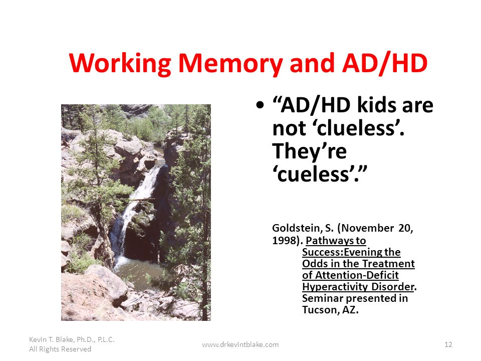 Working Memory and AD/HD