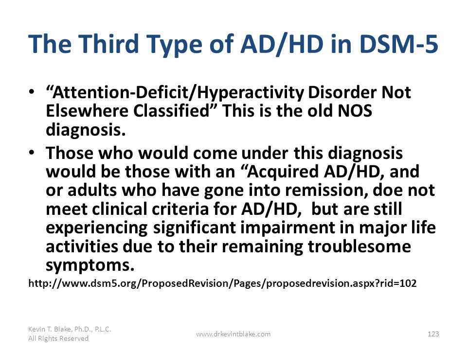 The Third Type of AD/HD in DSM-5