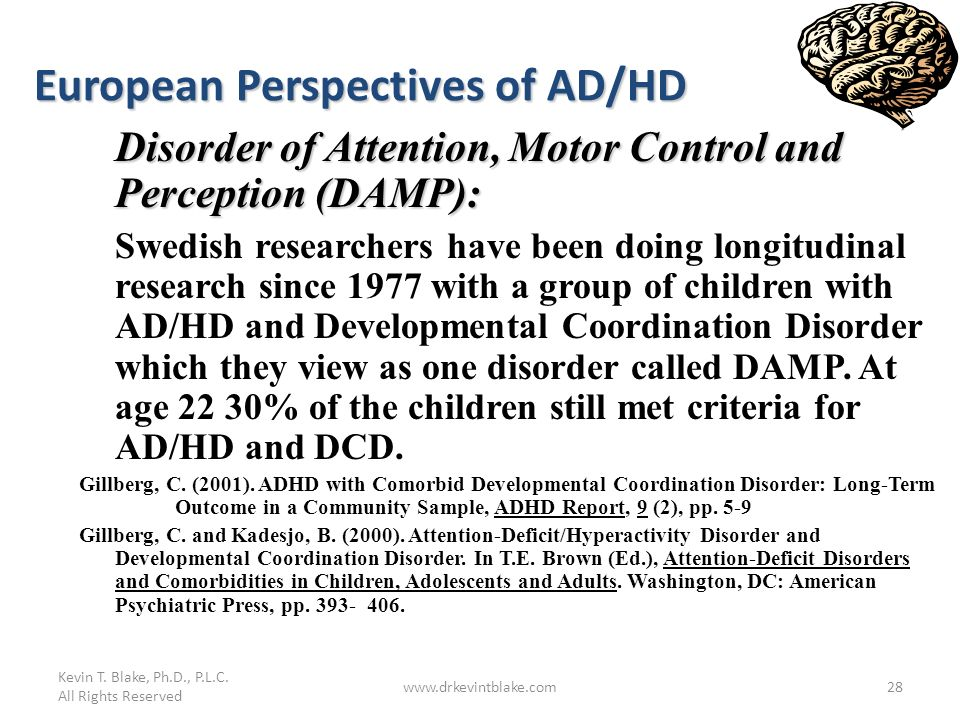 European Perspectives of AD/HD