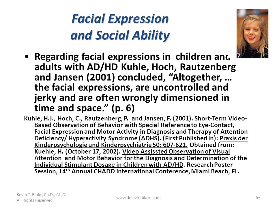 Facial Expression and Social Ability