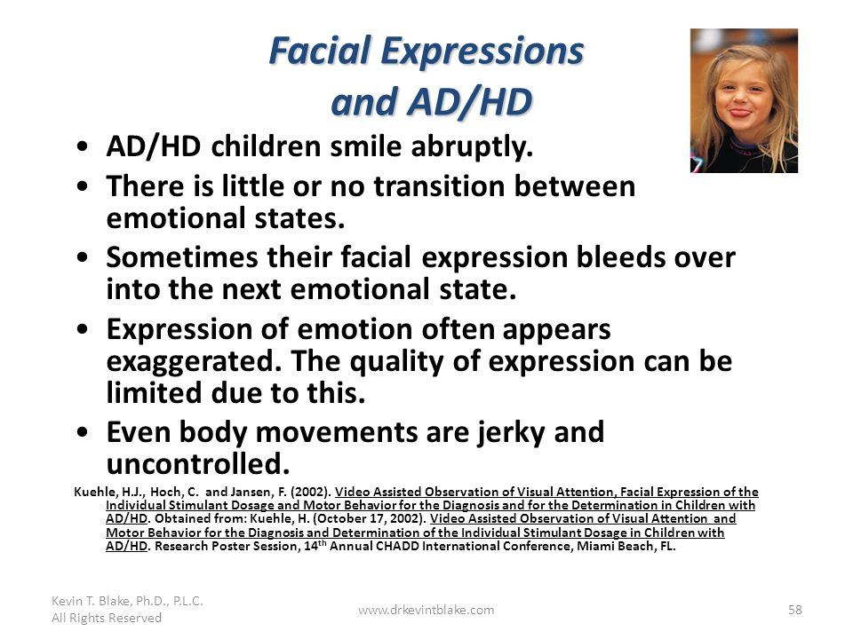 Facial Expressions and AD/HD