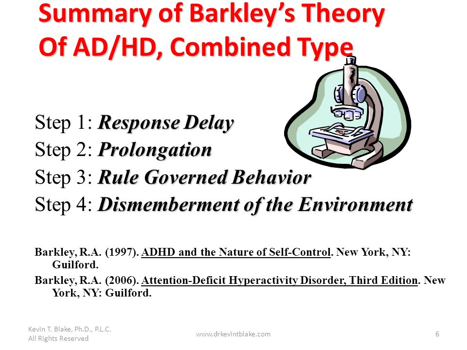 Summary of Barkley's Theory Of AD/HD, Combined Type