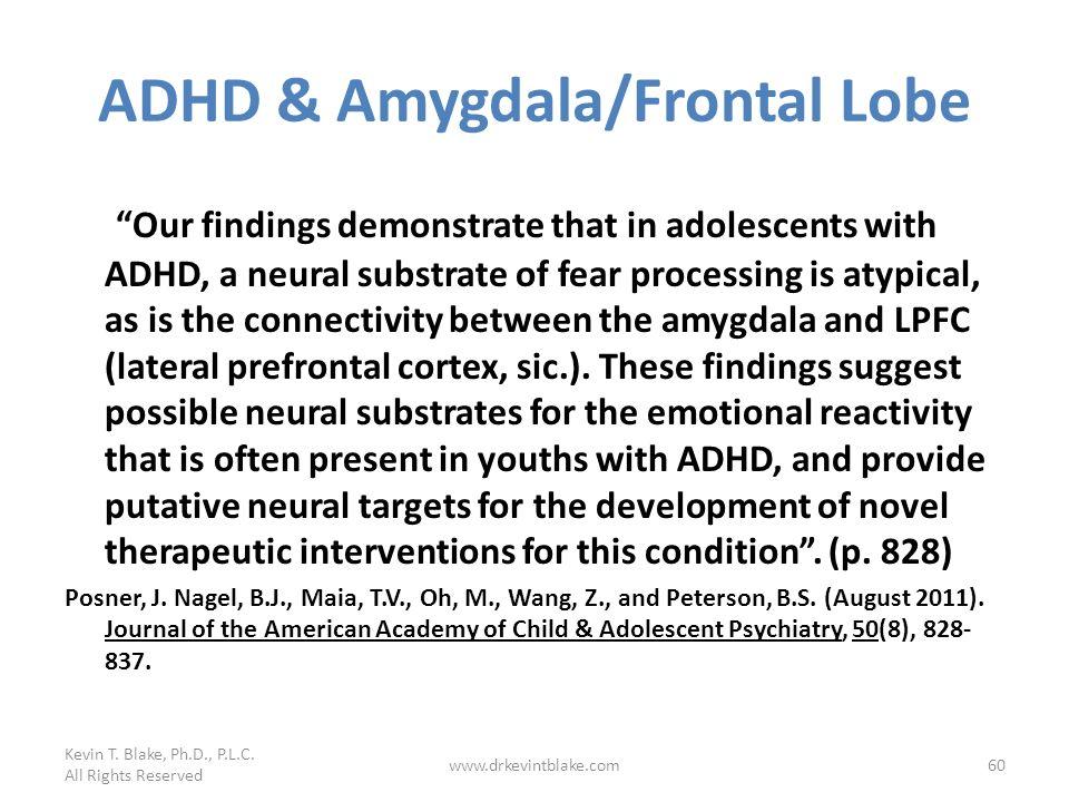 ADHD & Amygdala/Frontal Lobe