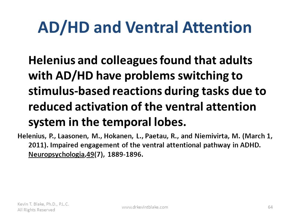 AD/HD and Ventral Attention